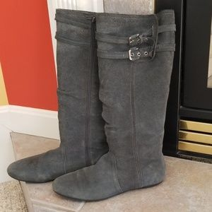 Naughty Monkey Tall Gray Suede Boots